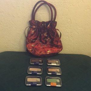 Cover girl Eyeshadow/enhancers 6-pack W/beauty bag